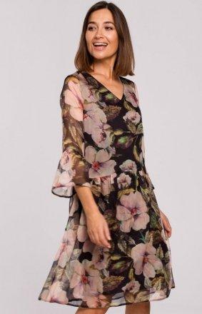 Oversizowa sukienka w kwiaty S214/3