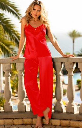 Satynowa piżama damska Caroline czerwona