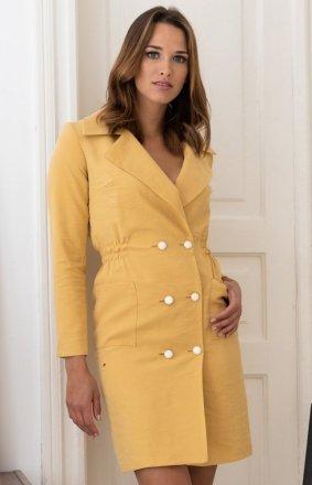 Sukienka żakietowa musztardowa LP283