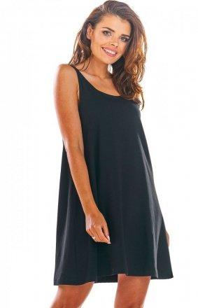 Luźna sukienka z dekoltem na plecach M204