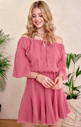 Urocza sukienka hiszpanka 0333 różowa