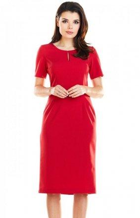 Dopasowana sukienka midi A252