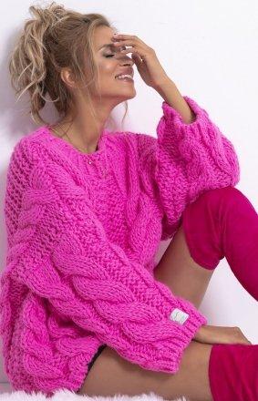 *Ciepły sweter z wełny F780