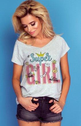 Oversizowa bluzka Knits super girl K362