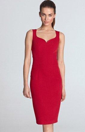 *Ołówkowa sukienka z dekoltem S113CZ