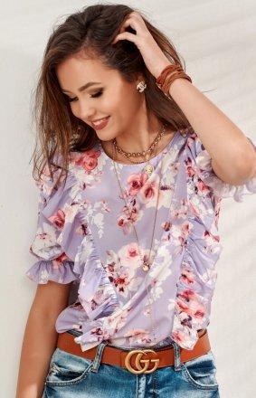 Stylowa bluzka w kwiaty 0074/S51