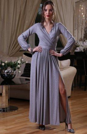 *Roco 0227 sukienka szara