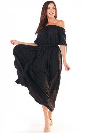 Sukienka maxi hiszpanka czarna A357