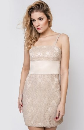 Vera Fashion Bella sukienka beżowa