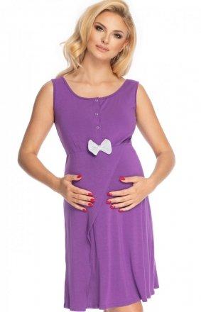 Ciążowa koszula nocna z kokardką fioletowa 0179