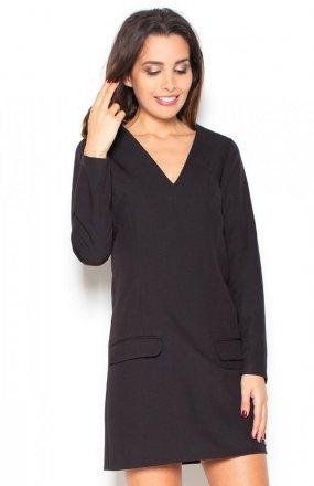 Katrus K373 sukienka czarna