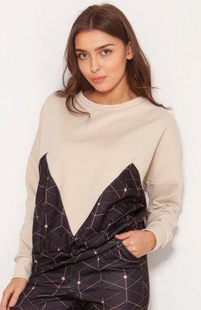 Luźna bluza damska wzór BLU148