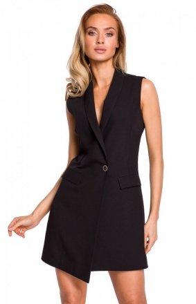 Elegancka sukienka marynarka czarna M439