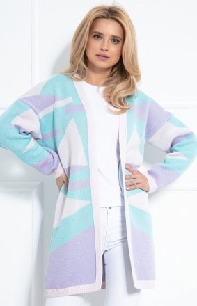 Pastelowy bawełniany sweterek bluedream F1038