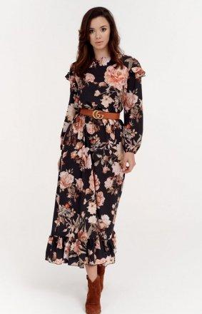 Kwiecista sukienka midi 0282/S39