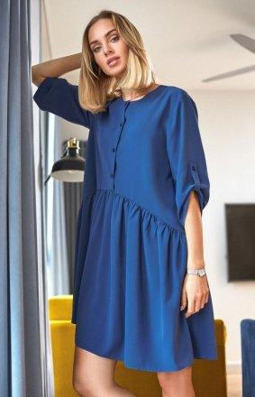 Luźna sukienka niebieska M427