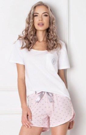 Aruelle Piżama Q Short Biało-różowa