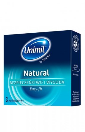 Unimil box 3 natural prezerwatywy