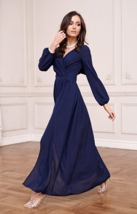 Wieczorowa sukienka maxi granatowa 0257
