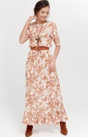 Szyfonowa sukienka w kwiaty 283/W03