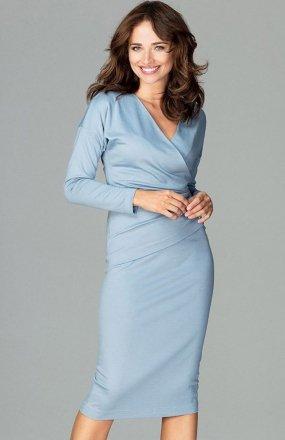 Lenitif K477 sukienka niebieska