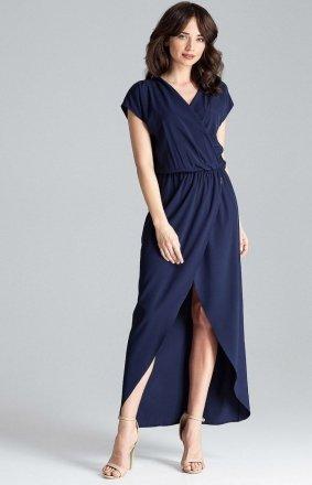 Długa sukienka grantaowa L033