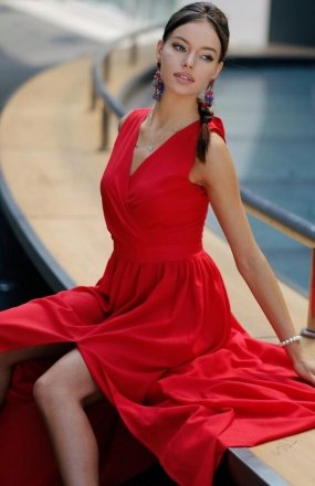 *Roco 0213 sukienka czerwona
