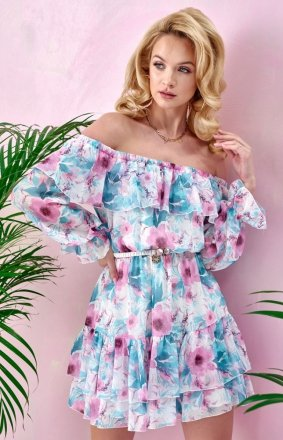 Kwiatowa sukienka hiszpanka 0332/U57