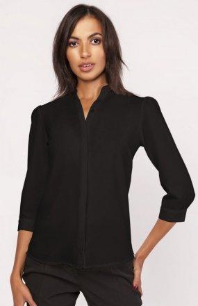 Koszula o luźnym kroju czarna K110