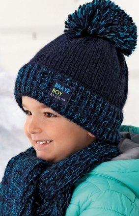 Ciepła czapka i szalik AJS 36-349