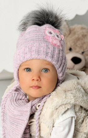 AJS 40-405 czapka i szalik dziecięcy