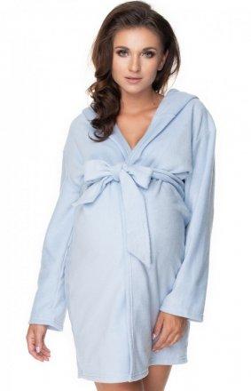 Błękitny ciążowy szlafrok 0148