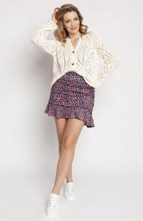 MKM SWE233 rozpinany sweter ecru