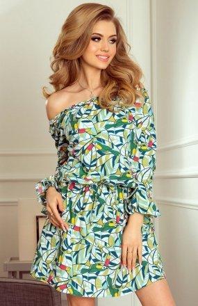 Numoco 198-4 sukienka zielone tukany