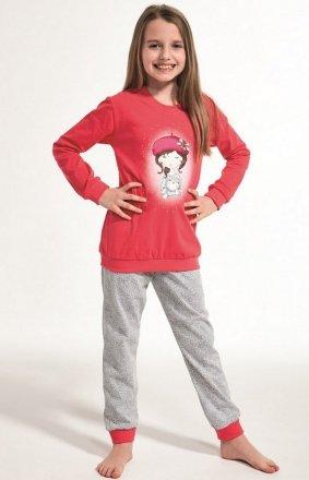 Cornette Kids Girl 594/108 Girl With Cat dł/r  86-128 piżama dziewczęca