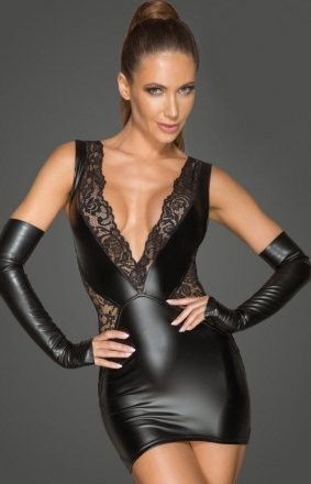 *Erotyczna sukienka wetlook F212
