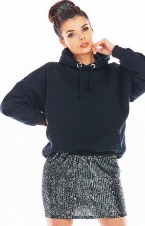 Awama cekinowa mini spódniczka grafitowa A403