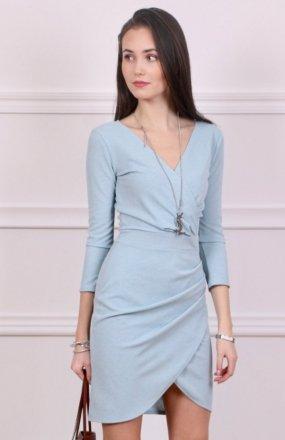Roco 0230 sukienka niebieska