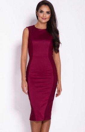 Ołówkowa sukienka Lara bordowa