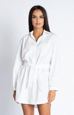 Koszulowa sukienka Celin biała