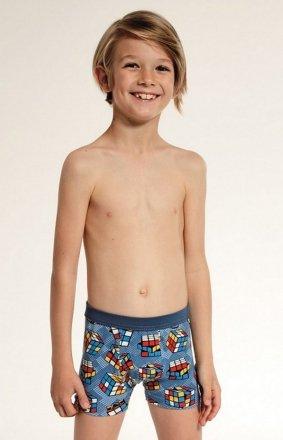 Cornette  Kids Boy 701/85 Cube bokserki chłopięce