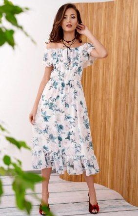 Kwiecista sukienka hiszpanka 0247/R41
