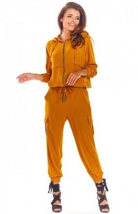 Spodnie joggery cargo A293