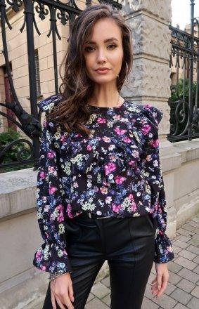 *Kwiatowa bluzka z falbankami S43