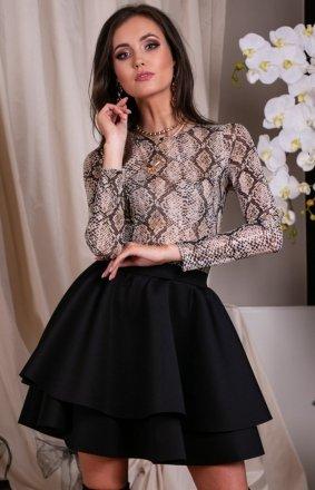 *Mini sukienka z podwójną falbaną 260/T03