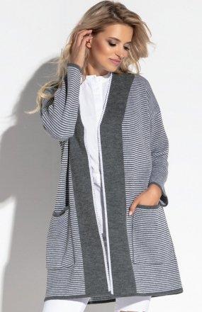 Fobya F570 sweter szary