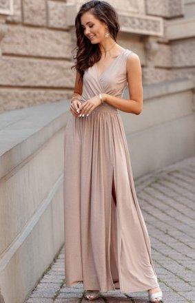 Wieczorowa sukienka maxi brokatowa 0224 BZL