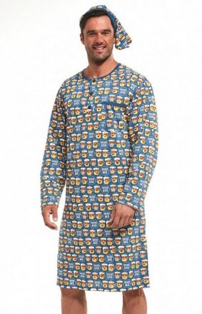 Koszula Cornette 110/643301 dł/r S-2XL koszula nocna męska