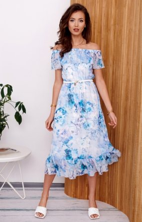 Kwiecista sukienka hiszpanka 0247/R43