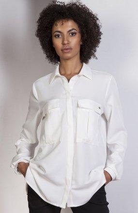 Koszula oversize ecru K108
